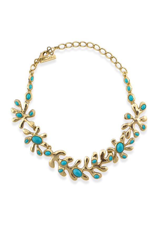 Oscar De La Renta - Sea Tangle Gold Plated Resin Necklace