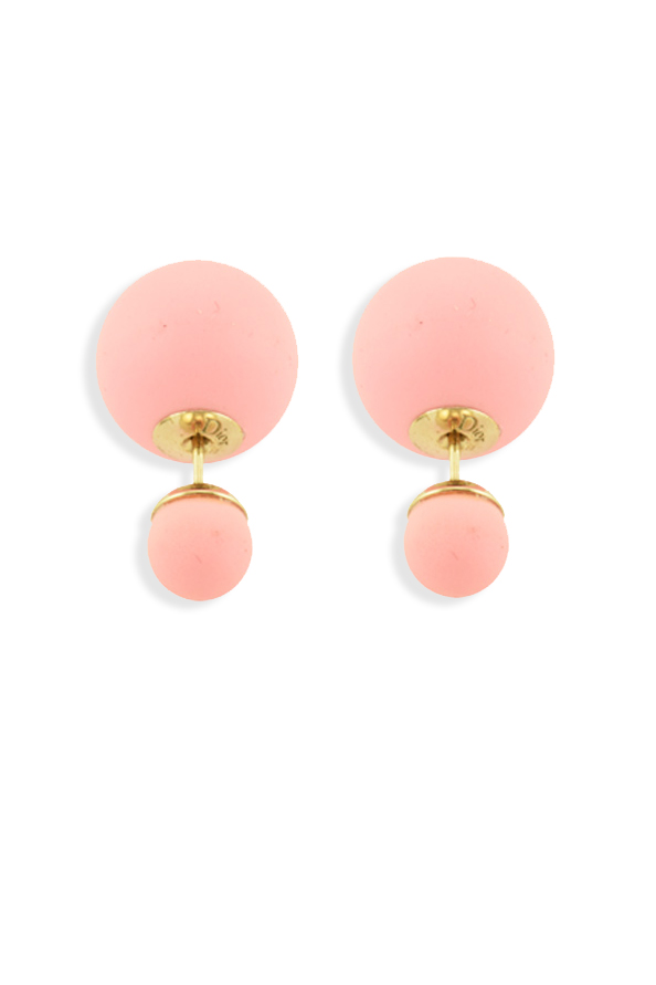 Christian Dior - Mise En Dior Tribale Earrings (Coral Pink)