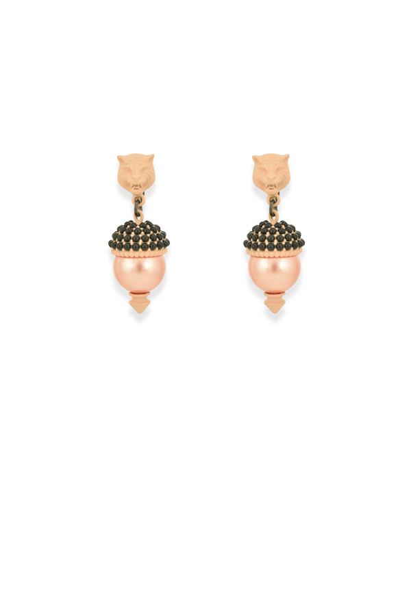 Gucci - 627484471_Switch Jewelry Gucci Feline Pearl Effect Embellished Earrings 2 jpg