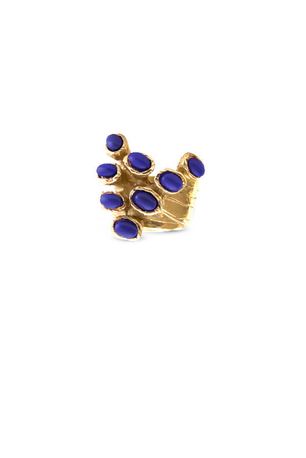 Yves Saint Laurent - Arty Dots Ring  Lapis Lazuli    Size 7 View 1