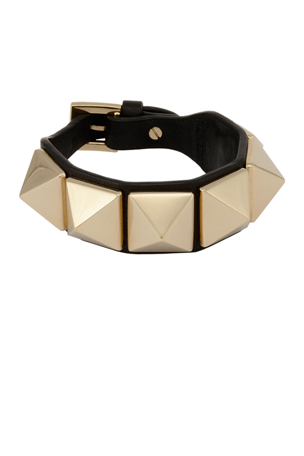 Valentino - Medium Rockstud Leather Bracelet (Black)