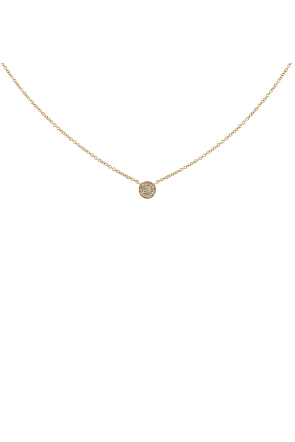 Switch - Diamond Circle Necklace (18k Rose Gold)