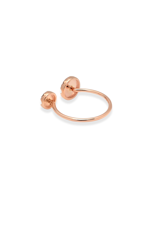 Do Not Disturb - The Tokyo Ring  14k Rose Gold and Diamonds    Size 6 5 View 3