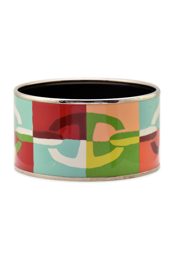 Hermes - Extra Wide Enamel Bangle (Chene dAncre)