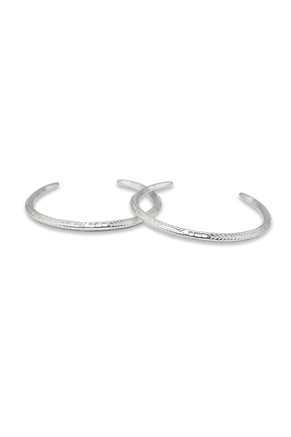 Rebecca Pinto - Taka Etched Cuff Set (Sterling Silver)