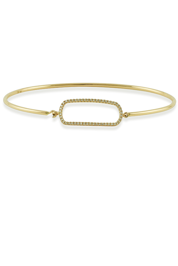 Yu  - Wire Bracelet With Diamonds  14k Yellow Gold  View 1