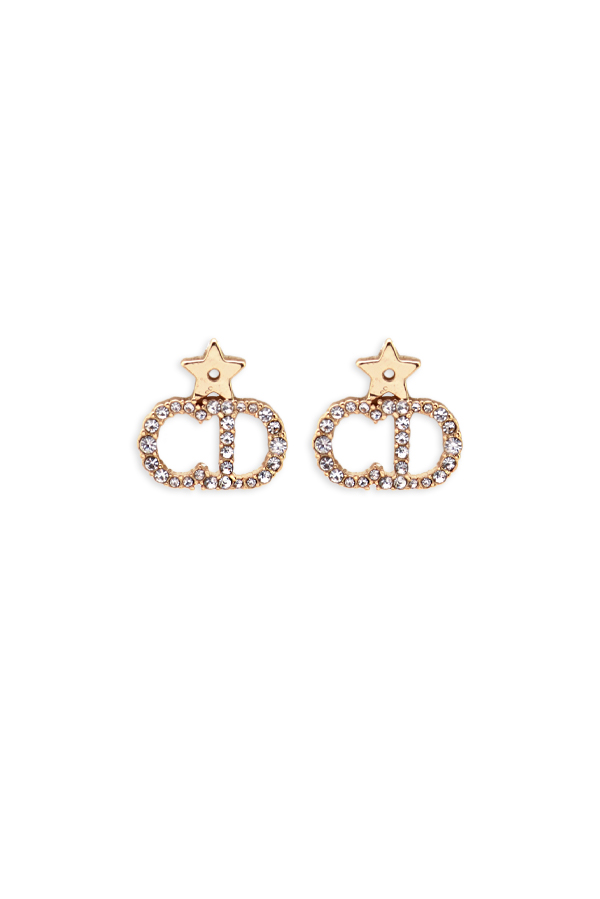 Christian Dior - Crystal CD Stud Earring
