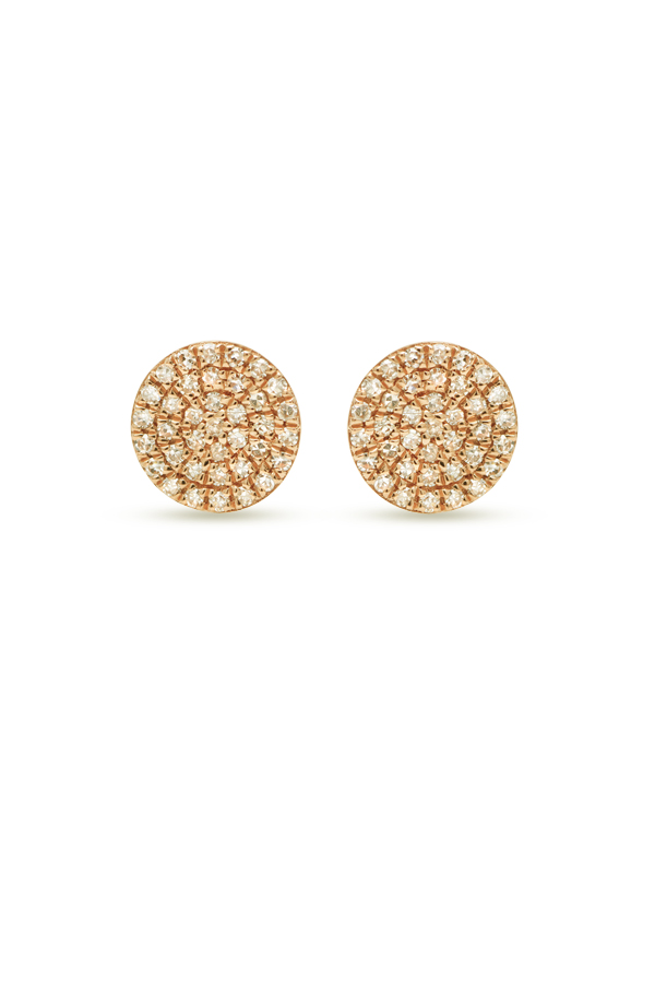 Do Not Disturb - The Bali Studs (14k Yellow Gold and Diamonds)