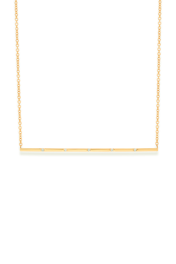 Switch - 695056148_Switch Jewelry Long Bar 5 Diamond Yellow Gold Necklace jpg