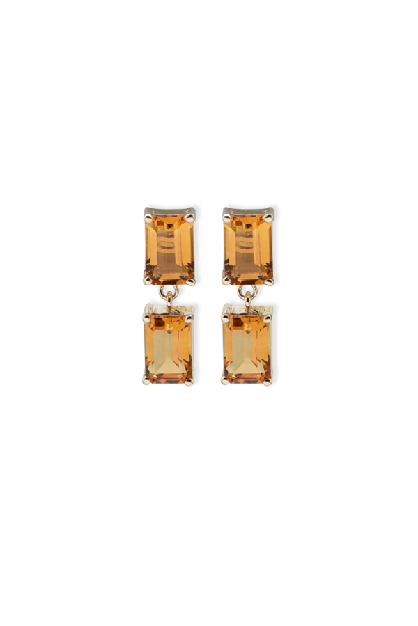 Suzanne Kalan - Yellow Gold Drop Earrings (Citrine)