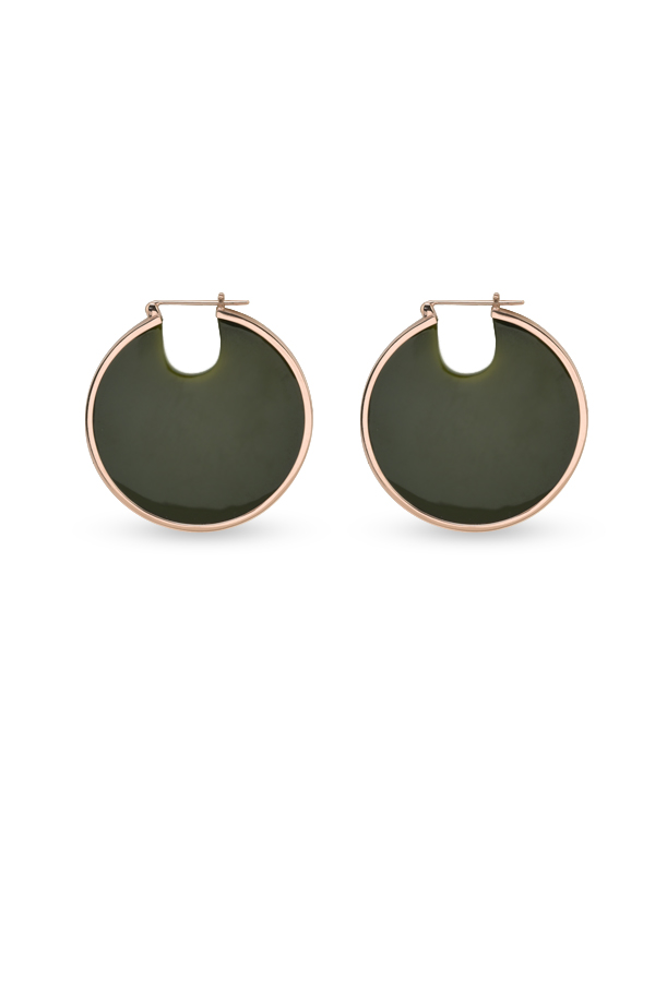 Studio Elke - Eclipse Hoop Earrings (Olive)