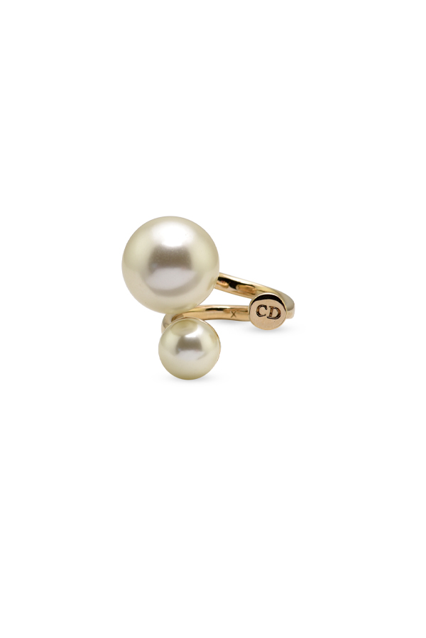 Christian Dior - Ultradior Double Faux Pearl Ring - Size 7.25