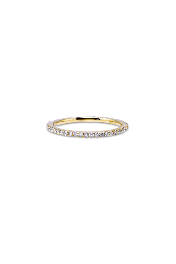 Do Not Disturb - The Zurich Ring (14k Yellow Gold and Diamonds) - Size 5