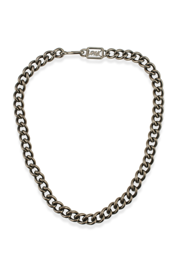 Yves Saint Laurent - 736690401_Switch Jewelry YSL Yves Saint LaurentGrey Curb Chain Necklace jpg