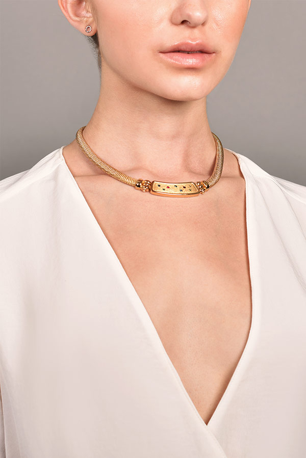 Christian Dior - 736896113_Switch Jewelry Christian Dior Vintage Crystal Collar Necklace jpg