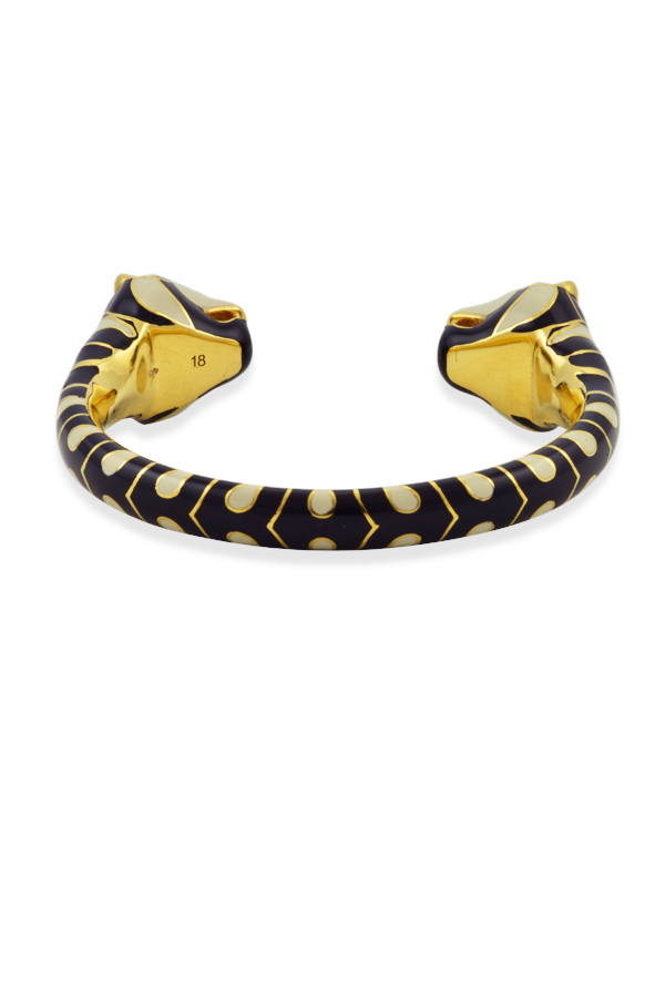 Gucci - Tiger Heads Cuff (Black/White)