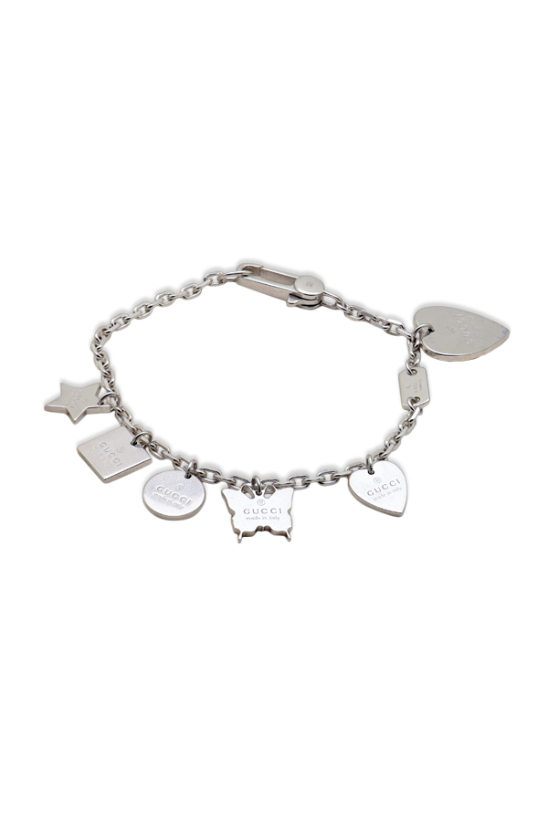 99dfb9638 Gucci Trademark Engraved Charm Bracelet | Rent Gucci jewelry for $29 ...