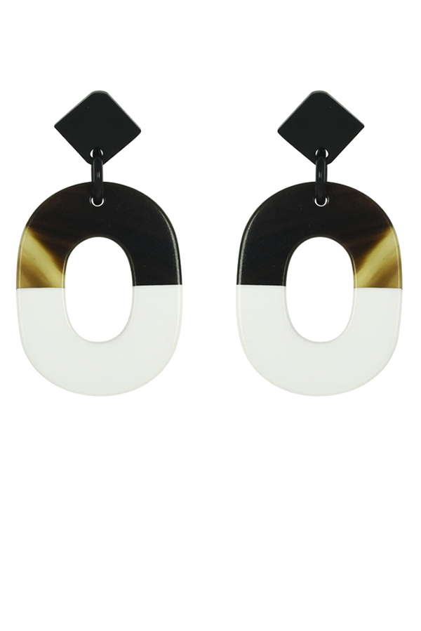 Hermes - ISTHME Earrings (White and Black)