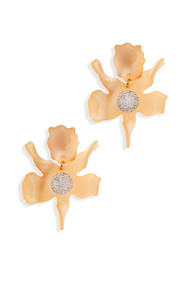 Lele Sadoughi - Crystal Lily Earrings - Blush