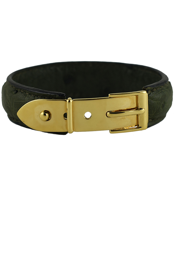 Gucci - Vintage Narrow Buckle Bracelet (Moss Green)
