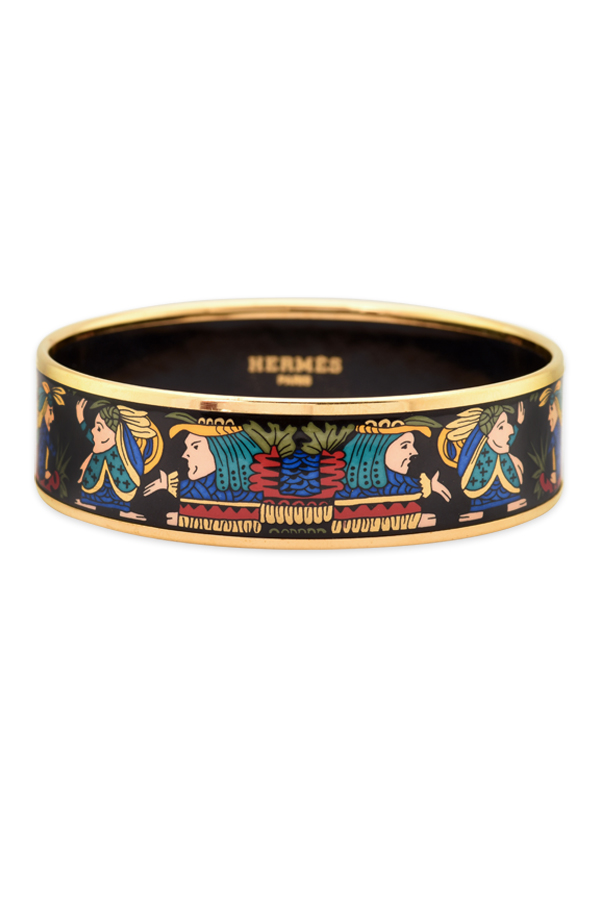 Hermes - Enamel Bangle (Multicolor Print)