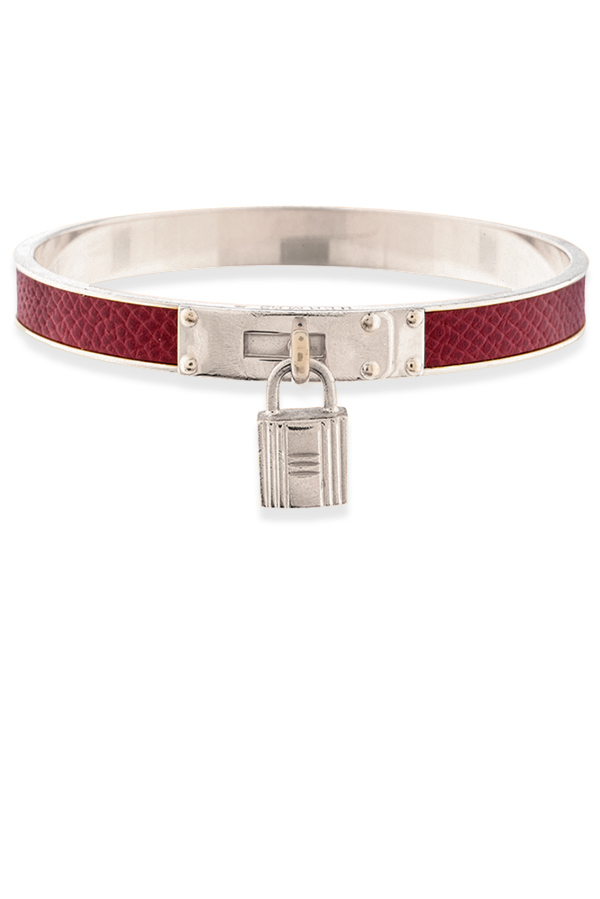 Hermes - 774882496_Switch Jewelry Hermes Kelly Cadena Lock Bangle  Red And Silver  jpg