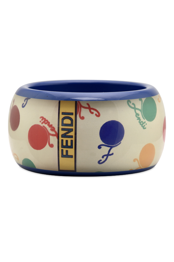 Fendi - Vintage Multicolor Cherry Print Resin Bangle