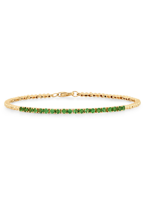 Do Not Disturb - The Toulouse Tennis Bracelet (14k Yellow Gold & Tsavorite) - S