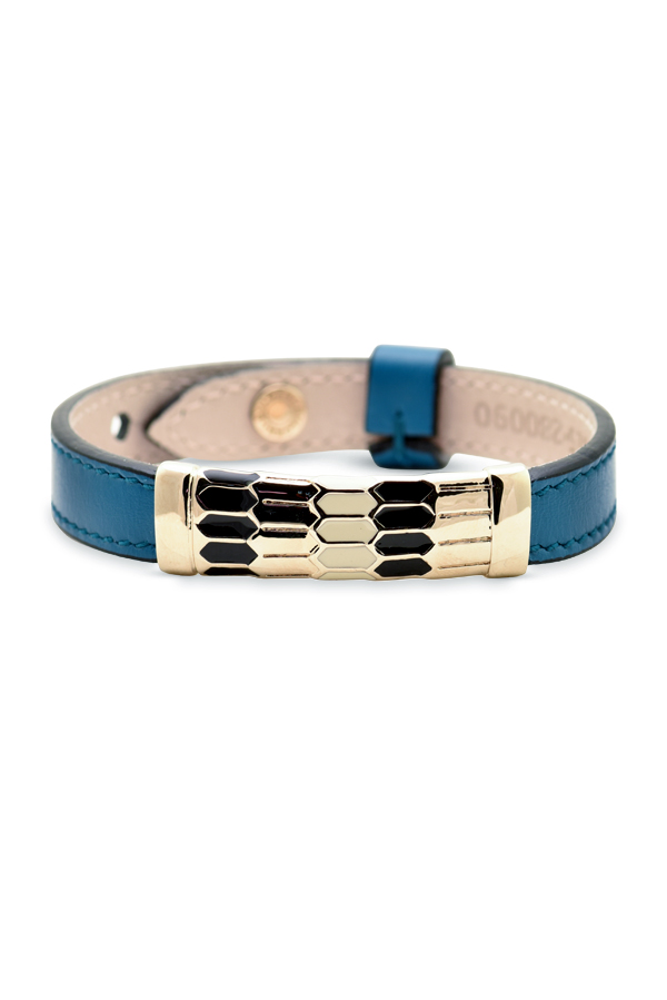 Bvlgari - Leather Scaglie Bracelet  Blue  View 1