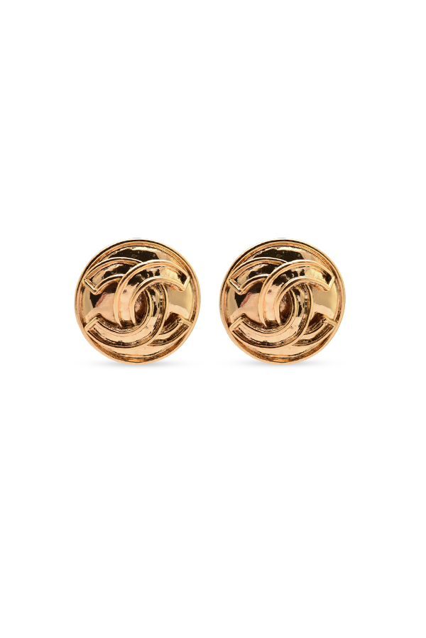 Chanel - Large Vintage Circular CC Earrings