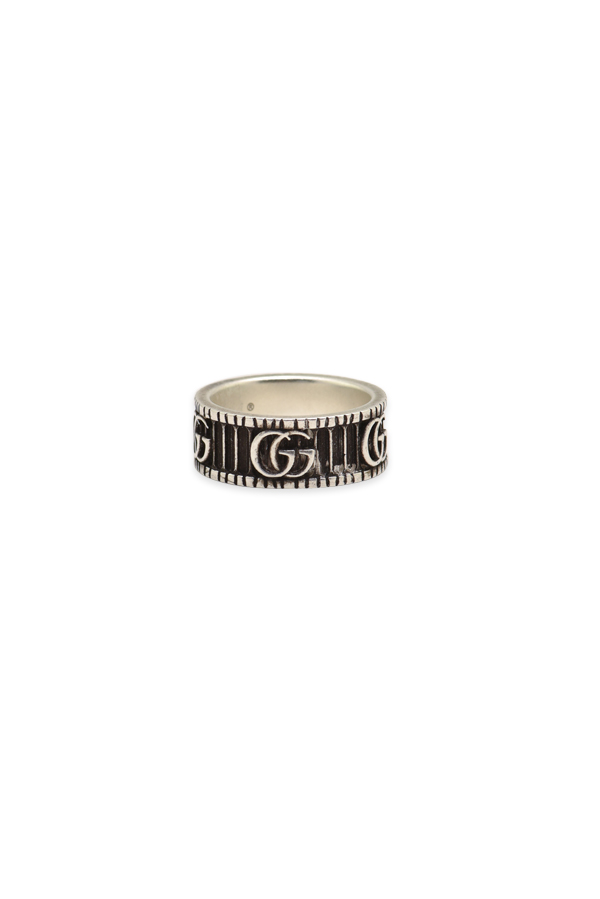 Gucci - Silver Double G Ring   Size 5 5 View 1