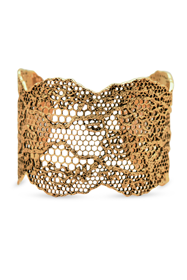 Aurelie Bidermann - Lace Cuff (Yellow Gold Plated)