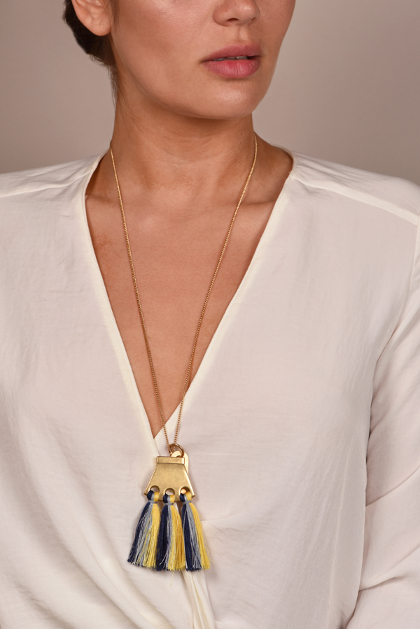 Chloe - Blue Multi Janis pendant necklace