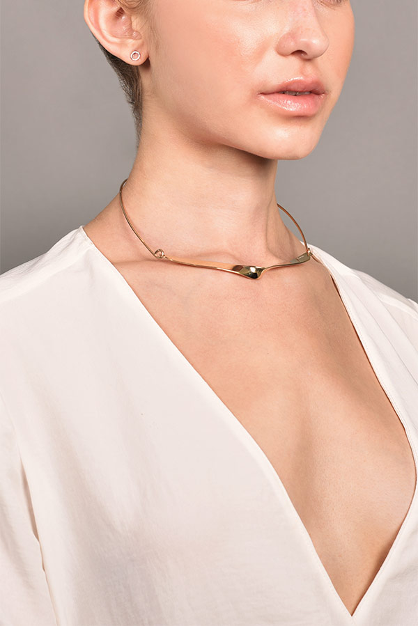 Odette - Pleat Collar