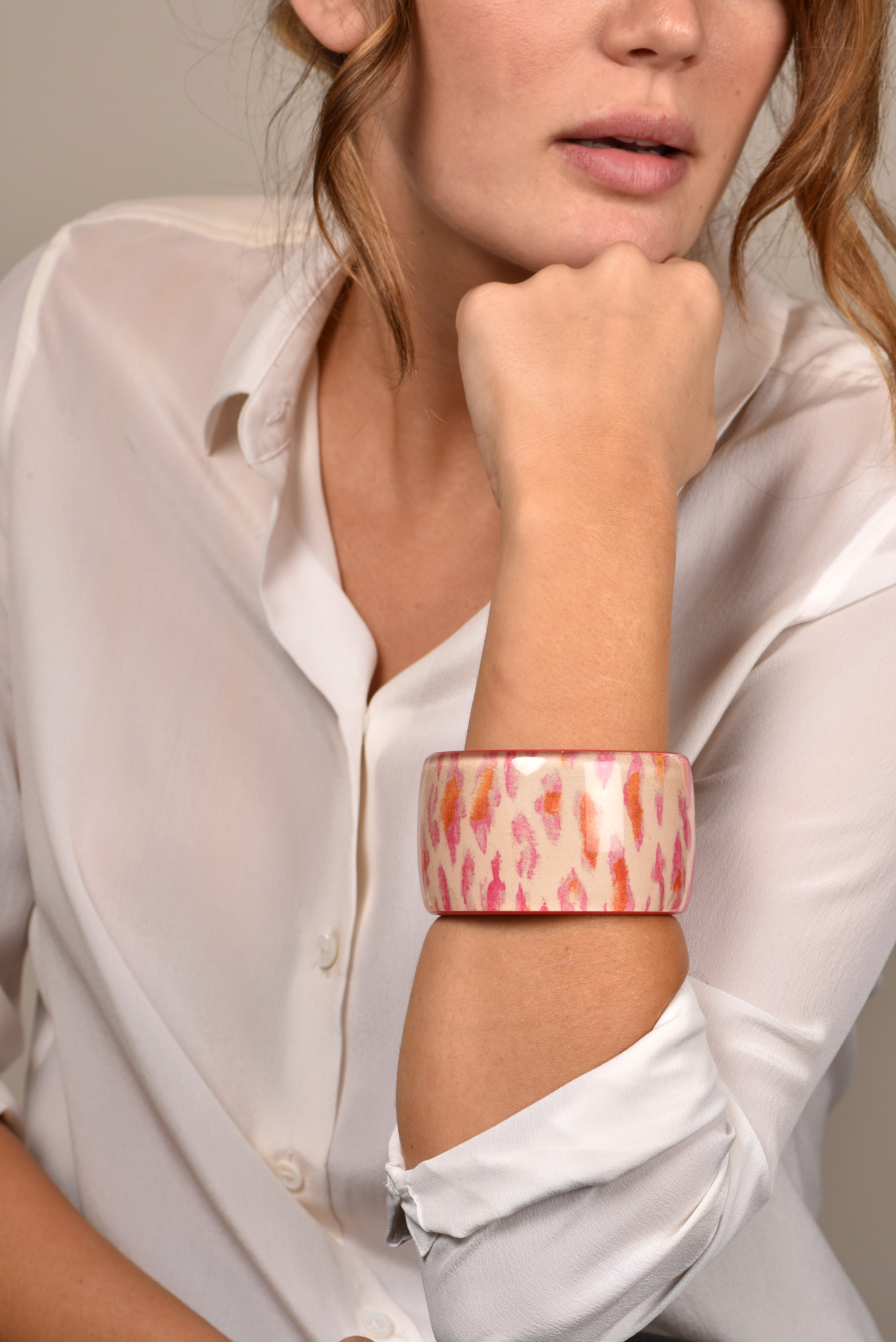 Christian Dior - Pink Leopard Resin Bangle View 2