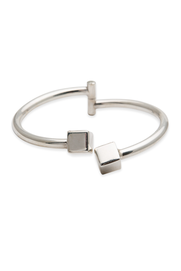 DND - Sterling Silver Cube Cuff Bracelet View 1