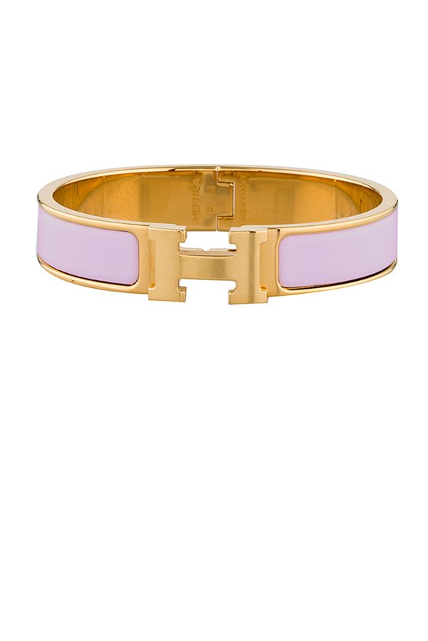 Hermes - 831410786_Switch Jewelry Hermes Narrow Clic H Pink and Gold PM jpg