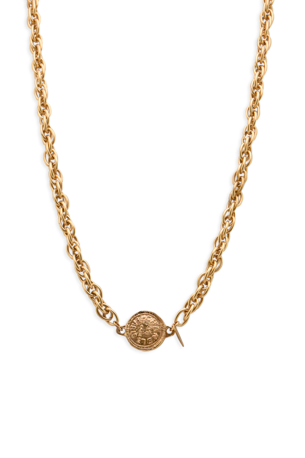 Chanel - Vintage 31 Rue Cambon Medallion on Long Rolo Link Chain