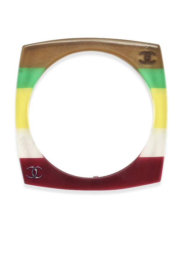 Chanel - 853340422_Switch Jewelry Chanel Multicolor Rainbow Striped Square Bangle jpg