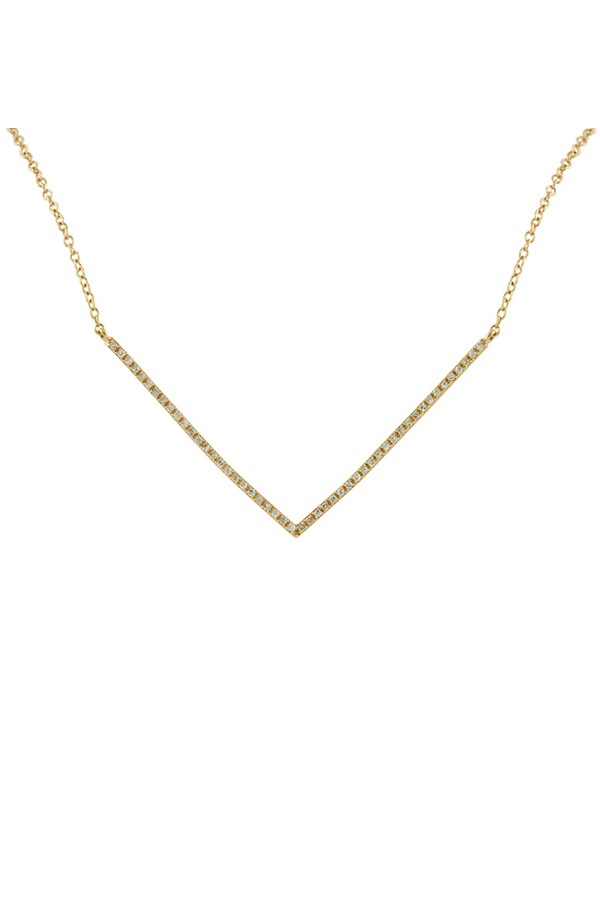 Switch - 18K Rose Gold and Diamond Delta Necklace (18k Rose Gold)