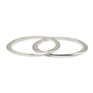 Rebecca Pinto - York Bangle Set  Sterling Silver  View 1