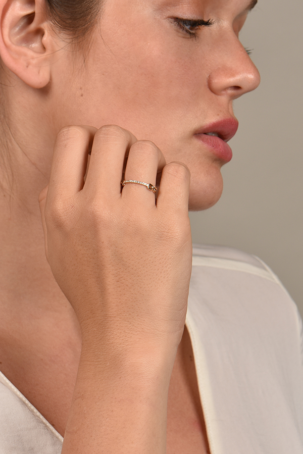 Sophie Ratner - Pave Hinge Ring   Size 6 View 2