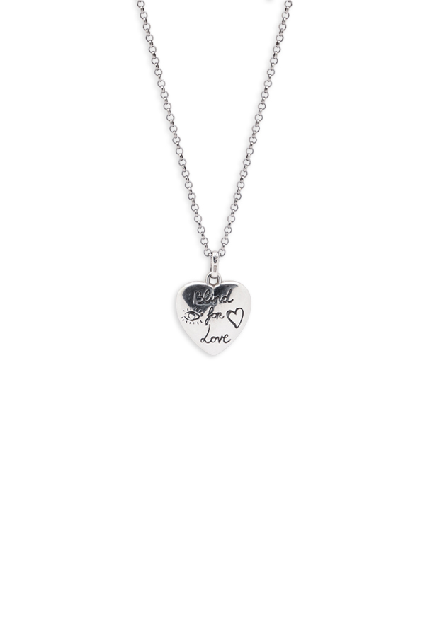 Gucci - Blind For Love Engraved Necklace