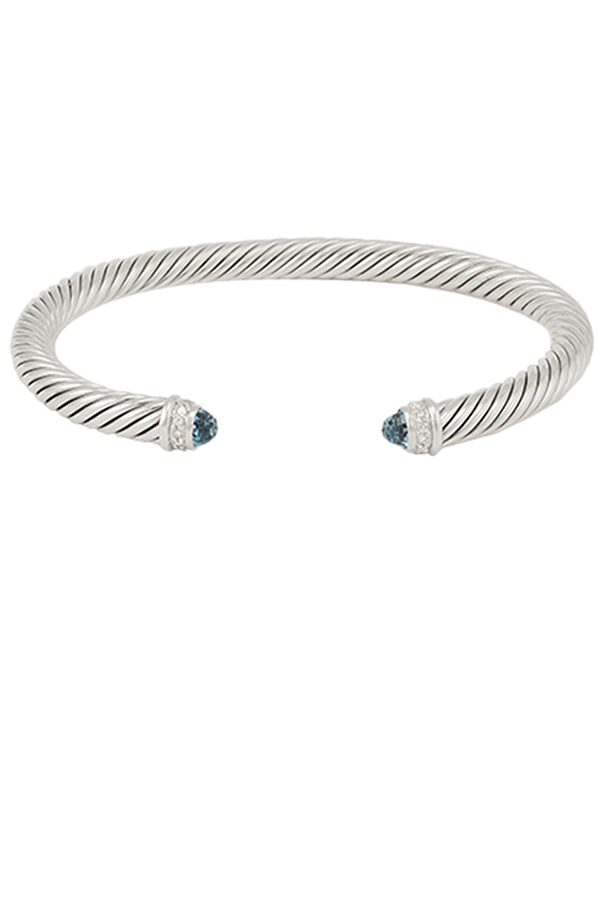 David Yurman - 5mm Cable Bracelet (Blue Topaz)