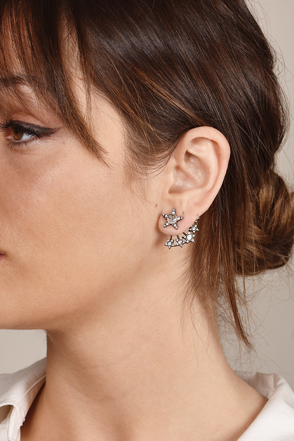 Christian Dior - Crystal Star Earrings View 2
