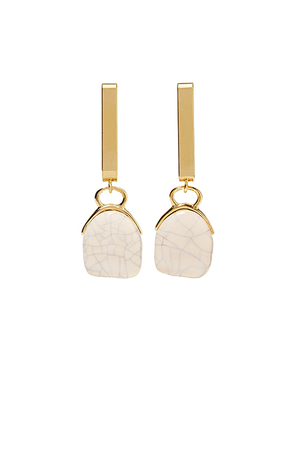 Isabel Marant - Gold-tone ceramic earrings