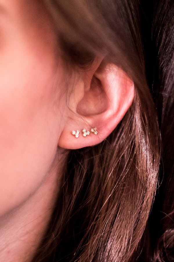 Sophie Ratner - Triology Studs (White Gold)