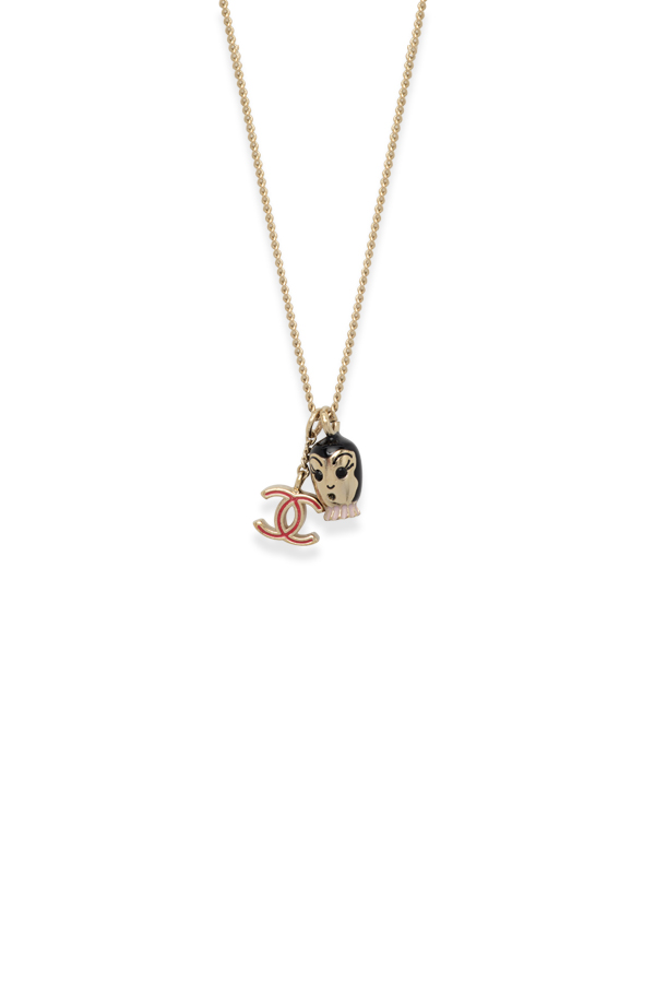 Chanel - Doll And CC Logo Charm Necklace View 1