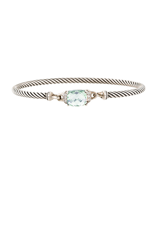David Yurman - Wheaton Bracelet (Prasiolite and Diamonds)