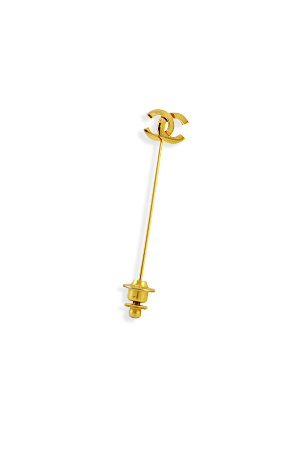 Chanel Vintage CC Logo Pin Brooch | Rent Chanel jewelry for $29/month